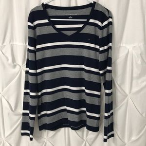 Tommy Hilfiger Striped casual V-Neck  sweater